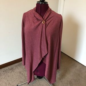 Button Up Open Cardigan